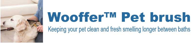 the Wooffer™ Pet brush